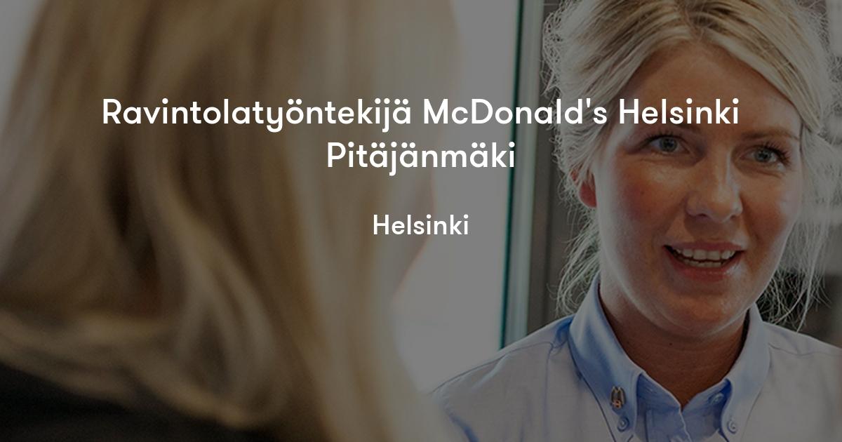 Mcdonalds Pitäjänmäki
